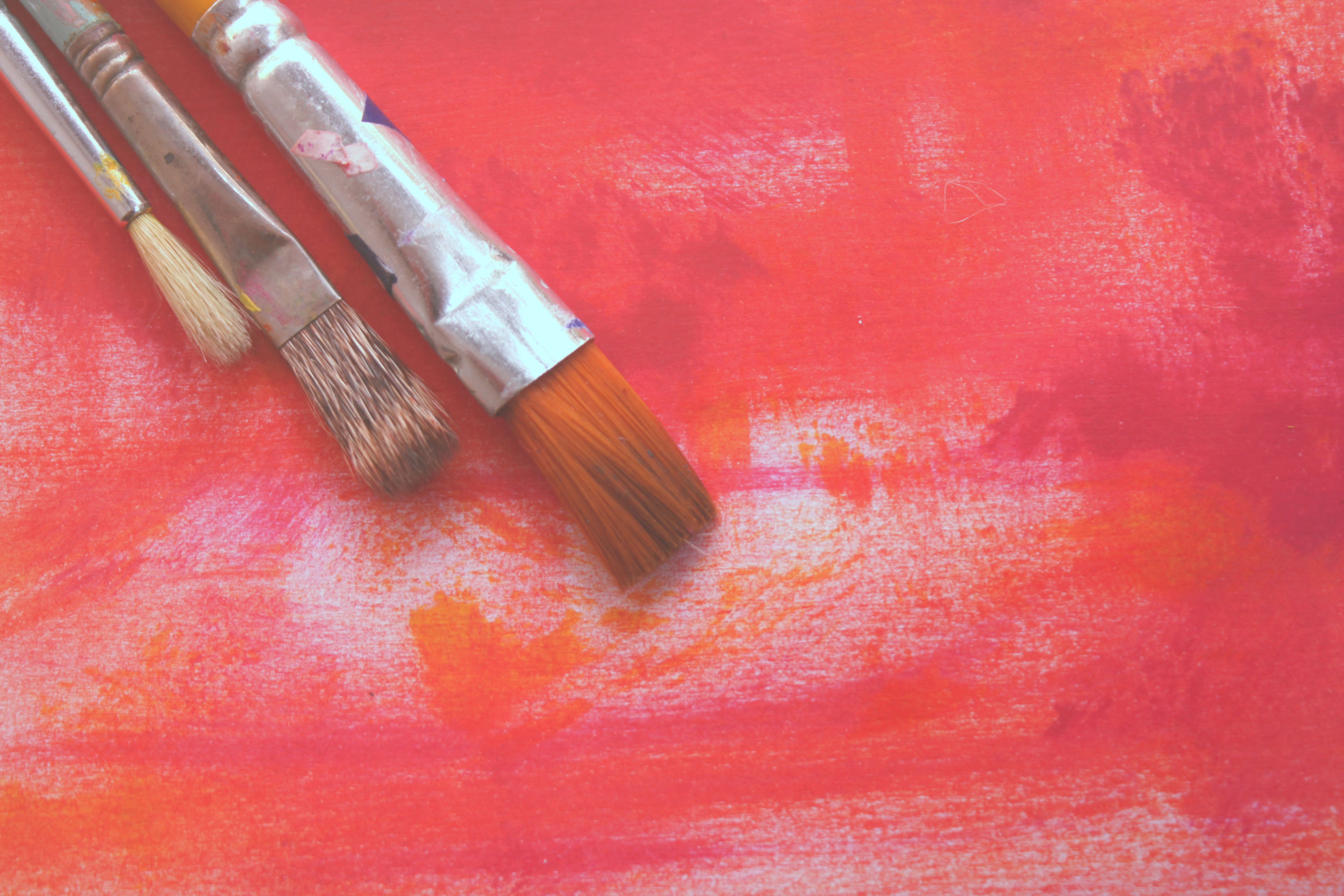 two paint brushes