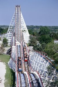 American Eagle Roller Coaster at Six Flaggs