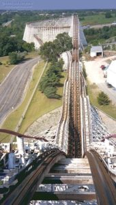 The Great American Eagle Roller Coaster at Six Flaggs