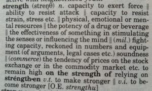 Strength Definition by The New Lexicon Webster's Encyclopedic Dictionary 1992