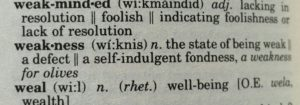 Weakness Definition by The New Lexicon Websters Encyclopedic Dictionary 1992