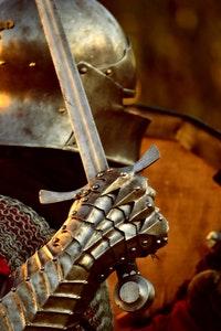 Knight holding sword