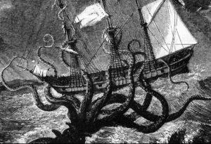 Kraken attacking a ship