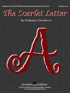 """Nathaniel Hawthorne's """"The Scarlet Letter"""" book cover"""