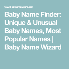 Baby Name Finder: Baby Name Wizard