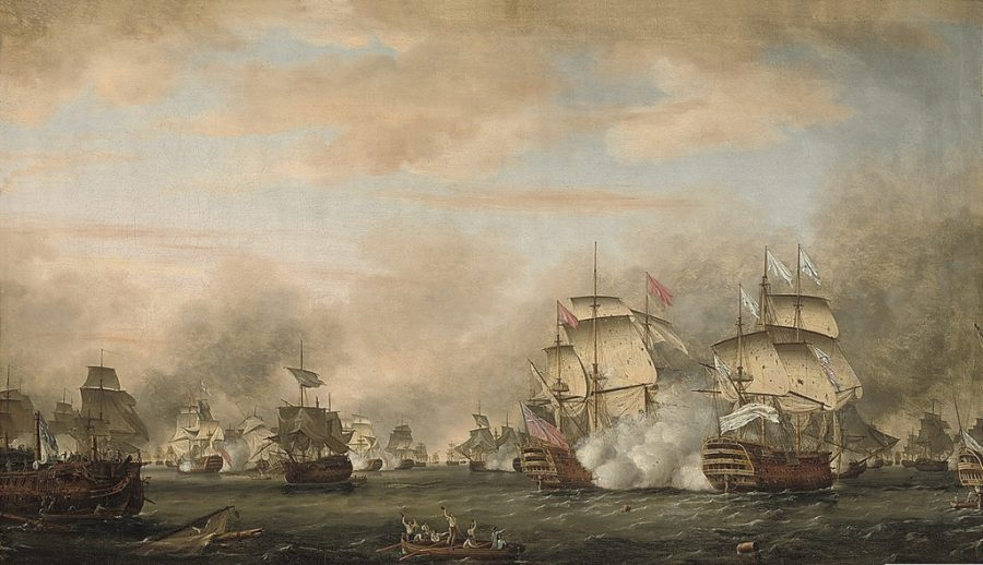 Battle of the Saintes painting