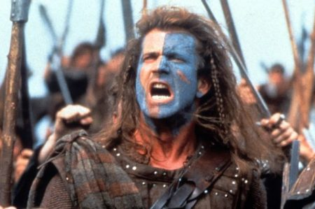 Mel Gibson as William Wallace in the movie Braveheart