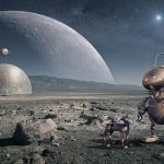Future robots and life on the moon