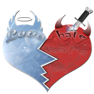 Love and hate heart